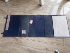 清代或民国蓝布函套 厚实 一个 尺寸23.5*16*8.5厘米 包邮 局发