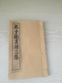 芥子园画谱三集卷一卷二合订厚本