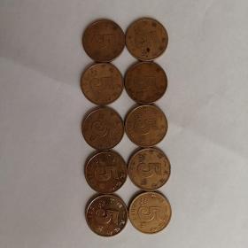 五角硬币2008—2017