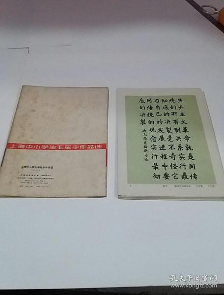 上海中小學生毛筆字作品選