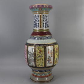 清代乾隆年制珐琅彩双耳瓶瓷王瓶