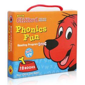 Clifford Phonics Fun Box Set #3 (Books + CD)  大红狗趣味自然拼读读本套装3,12册书附CD