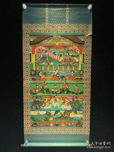 木版印刷 日式和风婚礼 清代老字画浮世绘画春茶室书房中堂挂轴