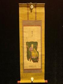 民国木板印 常济大师 民国清代老字画浮世绘画春茶室书房中堂挂轴
