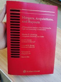 2016年版 mergers acquisitions and buyouts 兼并与收购 Volume 1  chapters 1-5  第一卷  第1-5章