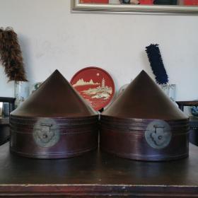 清代皮帽盒