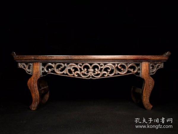 花梨木透雕条案价格550元,长53.5厘米 宽19厘米 高19.5厘米,重1520克