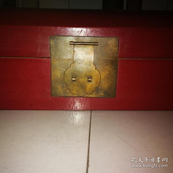 民国古董老皮箱子牛皮箱京城款长牛皮枕盒