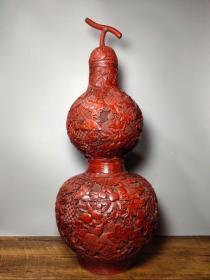 旧藏剔红漆器葫芦宝瓶《多子多福》招财福禄葫芦摆件高63厘米长25厘米宽25厘米,重2960克,¥1700