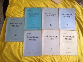 元史及北方民族史研究集刊 第5.6.7.8.9.10.11期 七本合售