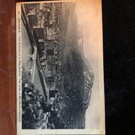 法国老明信片邮票签名