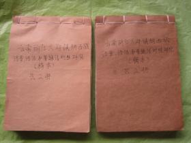 云南丽江大研镇纳西族(语言、语法和普通话对照研究)【稿本】信笺纸手写稿(线装两册)约500多页