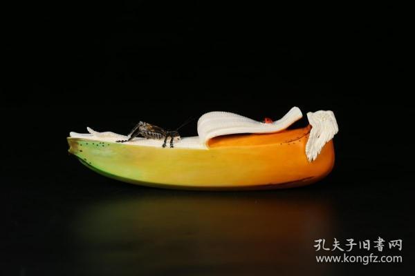 回流、老牙彩绘香蕉摆件