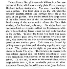法国著名作家小仲马亲笔信札《茶花女》作者Alexandre Dumas fils