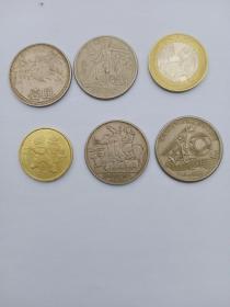 无砖长城币,内蒙币,大40,和平年,二轮羊,一轮牛,永远保真,品相如图,通走不单卖。大40好像是磨边了。