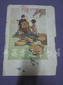 杂志内页插页画一张:缝葵扇(夏朱 作)