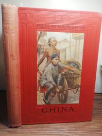 1913年  Peeps at Many Lands China  BY LENA E. JOHNSTON  含十几副彩色插图
