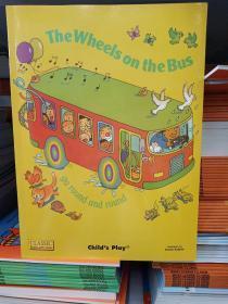 公共汽车上的车轮英文胶装
