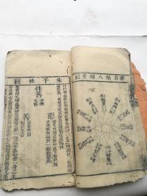 木刻,几十幅木刻图,四书人物考第一本