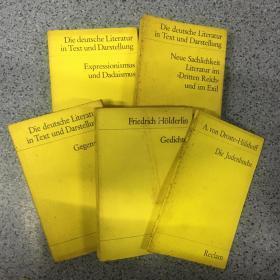Deutsche Literatur  (14/15/16)3+2  5本合售 具体书名看图