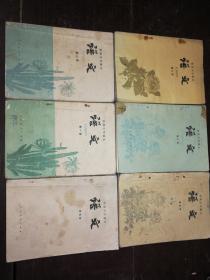 八十年代老课本……初级中学课本:语文(全套1-6册)
