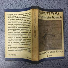 CHRISTA WOLF Fortgesetzter  Versuch