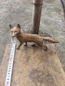 西洋铜器,摆件,狐狸,实心,有工,非常厚重,有一定年代了