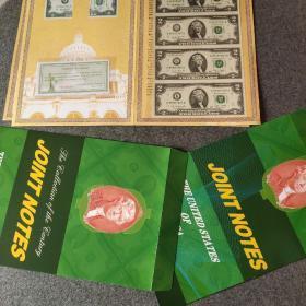 美元连体钞全新1美元4连体钞,币保真支持中国境内所有银行鉴定。假一赔十。带包装,收藏欣赏馈赠礼品皆宜。