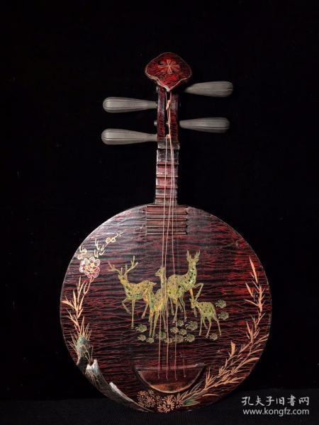 漆器实木乐器 宽37厘米 高63.5厘米
