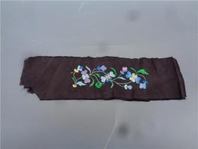 清代刺绣花卉纹花边