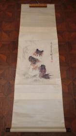 刘继卣|猫趣图 立轴
