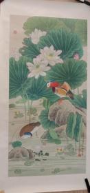 著名花鸟画家喻继高工笔作品四尺整张!
