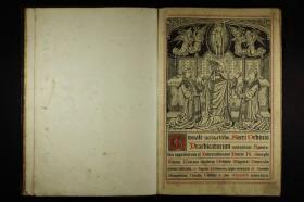 《Missale juxta ritum Sacri Ordinis Praedicatorum / 天主教弥撒规程》是一本为了使弥撒圣礼的举行更能符合神圣礼仪的规则的书。此书为拉丁语版本,内收版画、唱咏乐谱众多,朱墨双色印刷。本店销售的为米黄色仿古高档原色(彩色)复制本