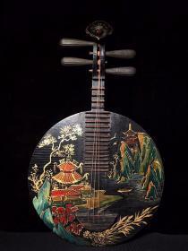 漆器实木乐器宽37厘米 高63.5厘米