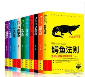 全10册 智慧谋略法则5册+励志人生定律5册 世界十大定律青春必读10本鳄鱼法则二八法则蝴蝶效应书竹子定律羊群成功畅销书籍