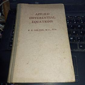 APPLIED DIFFERENTIAL EQUATIONS 应用微分方程(英文,精装)