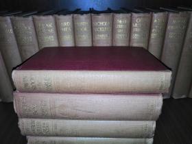 1913-1914年查尔斯·狄更斯豪华精装版全集22册全(英文原版,布面精装,整套书中有好几百幅精美单独插页版画插图,尚有7本毛边未裁)The Works of Charles Dickens