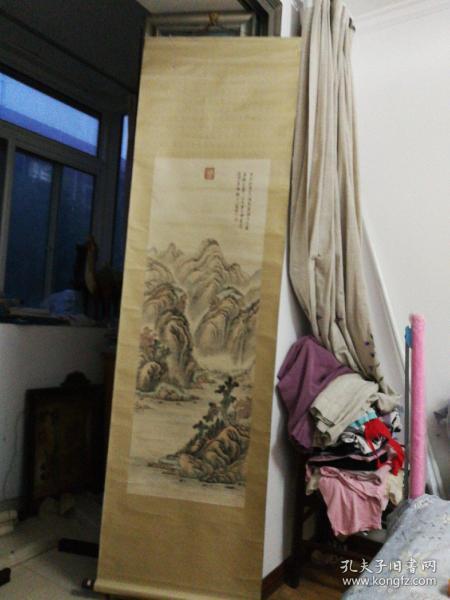 木版水印-吴镇仿巨然临安山水图