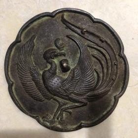 大型厚重铜器铜镜直径12厘米厚0.4厘米