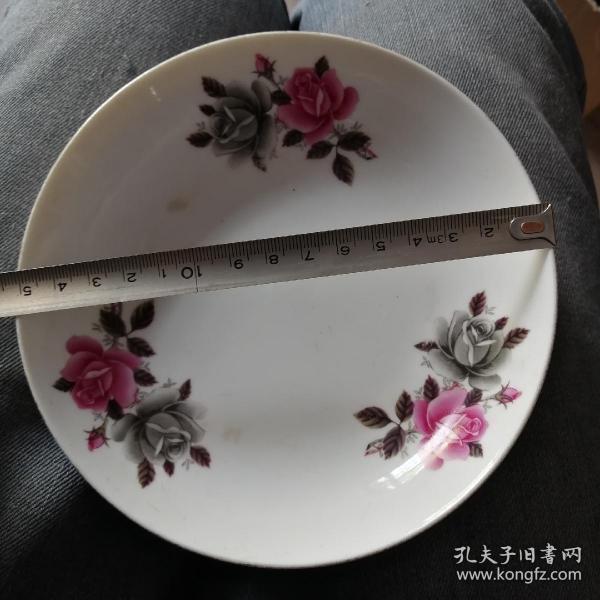 花朵盘一对
