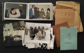 八十年代,北京电影制片厂相关彩色老照片30多张,黑白20多张,演员,亲友聚会,拍摄现场,剧照,会议等等