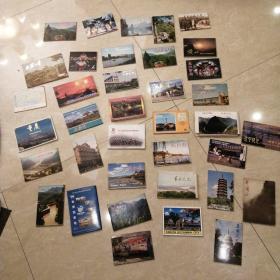 37套明信片 每套都齐全 世界各地风景 重庆 武汉 美国 天安门等 品相好