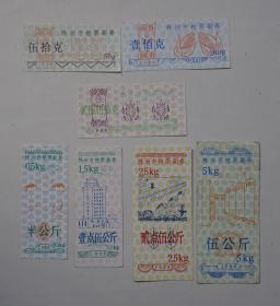 1988年株洲市粮票副券7全