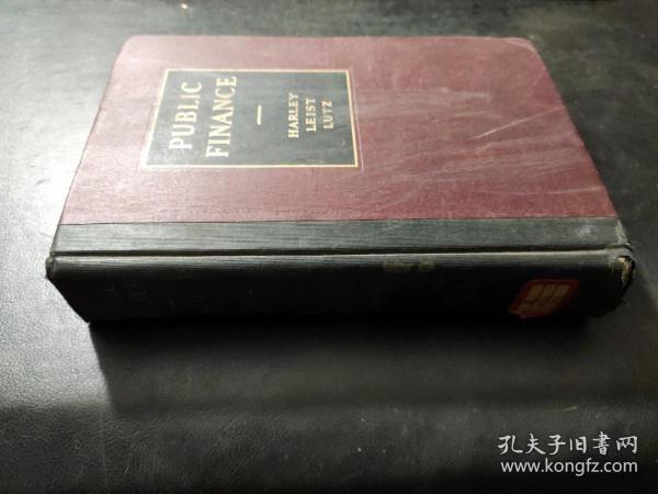 public finance 公共财政  1936年  英文原版精装   馆藏