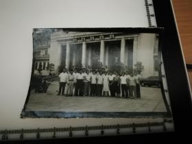 原国家民委专家张红、段星光旧藏老照片1张 国家民族委员会第一批短讯班学习结业纪念 1962年 民族文化宫