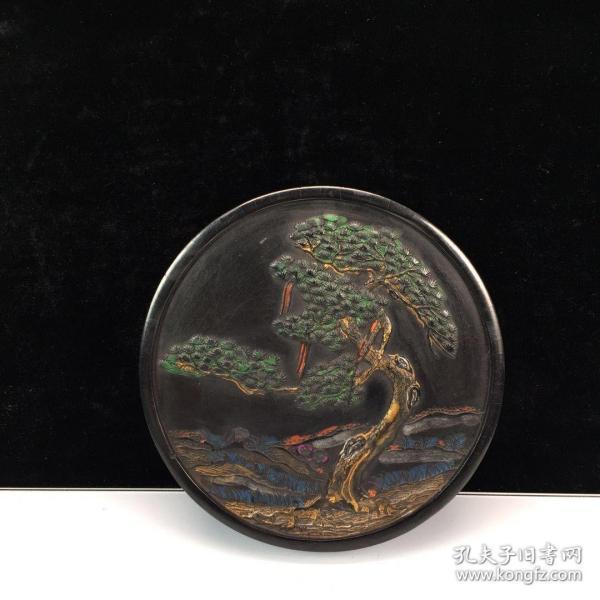 旧藏文房油烟墨:千岁岭