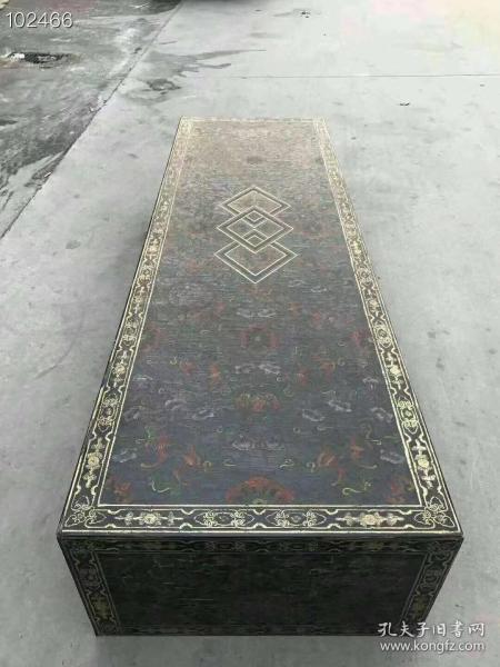 楠木胎漆器下卷 ,做工精致考究,绘制精美,长165厘米,宽52厘米,高30厘米