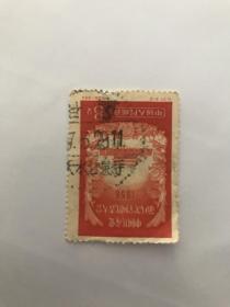老纪特邮票 纪37 甘肃天水甘泉寺戳 极少见