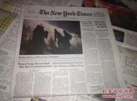 THE NEW YORK TIMES 过期纽约时报随机发货 英文原版报纸学习资料