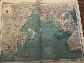 1922年 印度洋地图